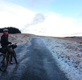 Winter Bike Packing Climb to Llangurig