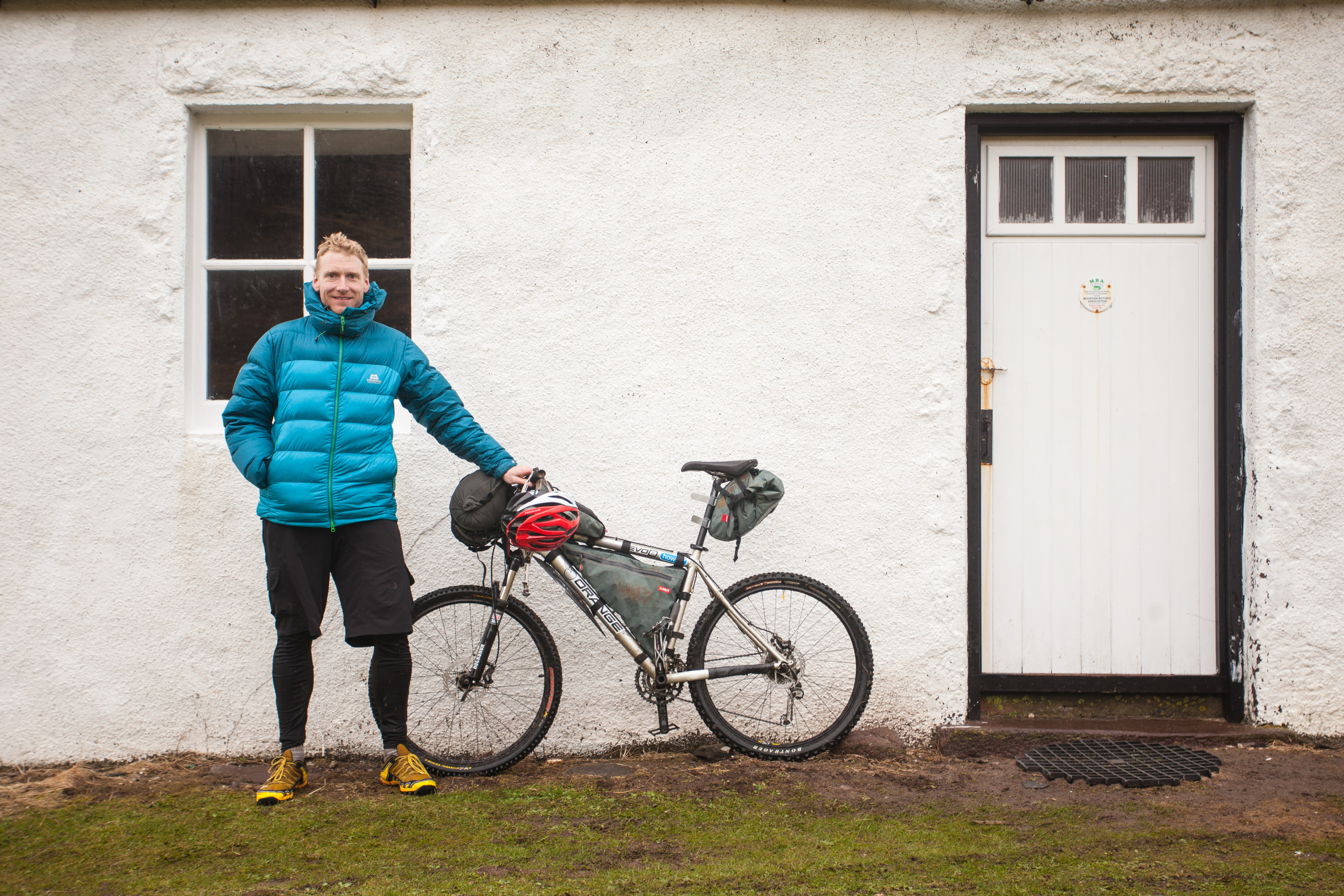 Mountain Bikes and Bothy Nights outside a bothy