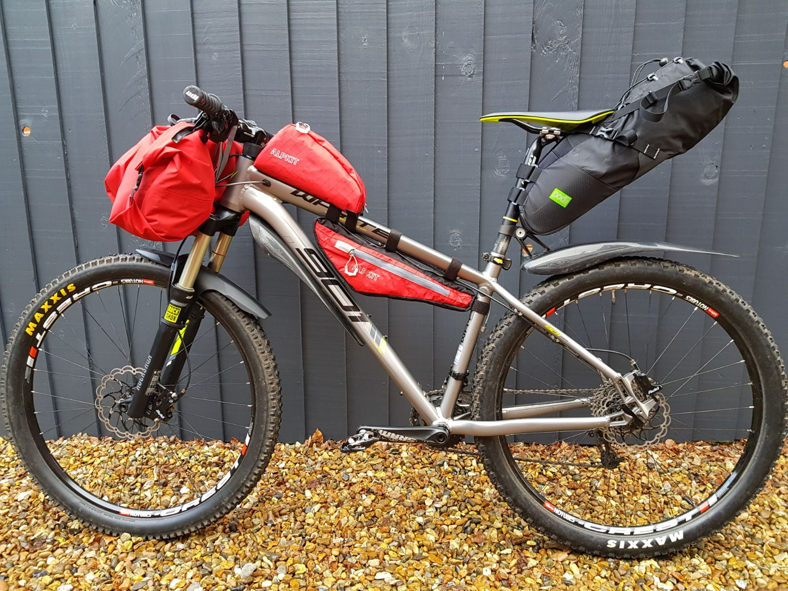 bearbones bikepacking loaded bike