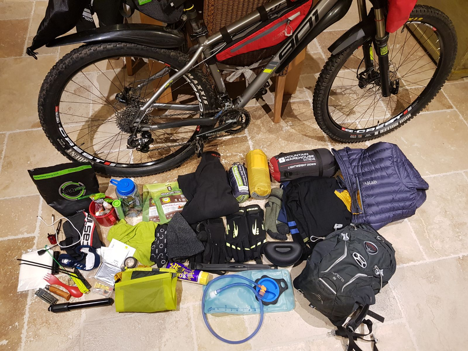 bearbones bikepacking kit