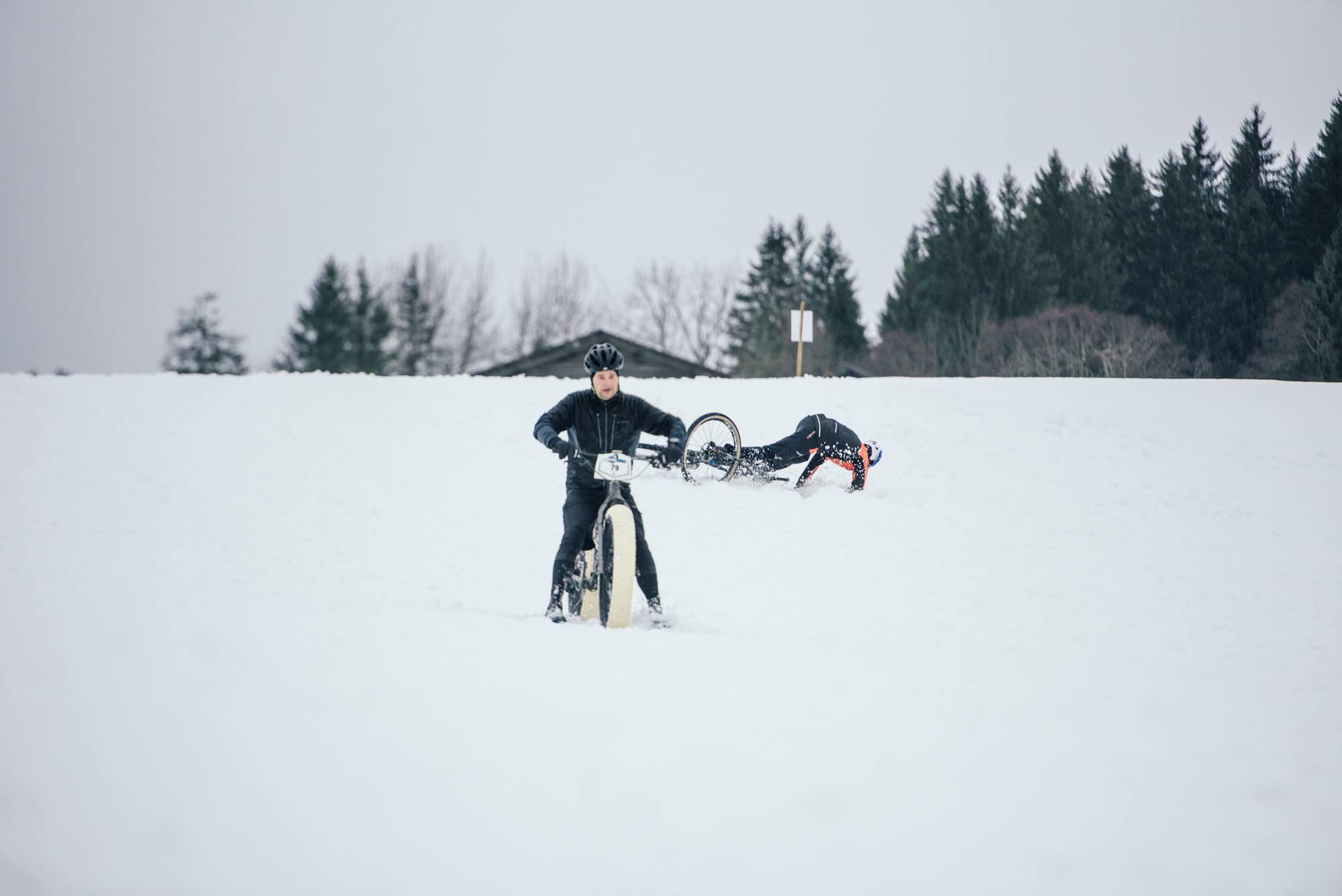 Snow Bike Festival crash