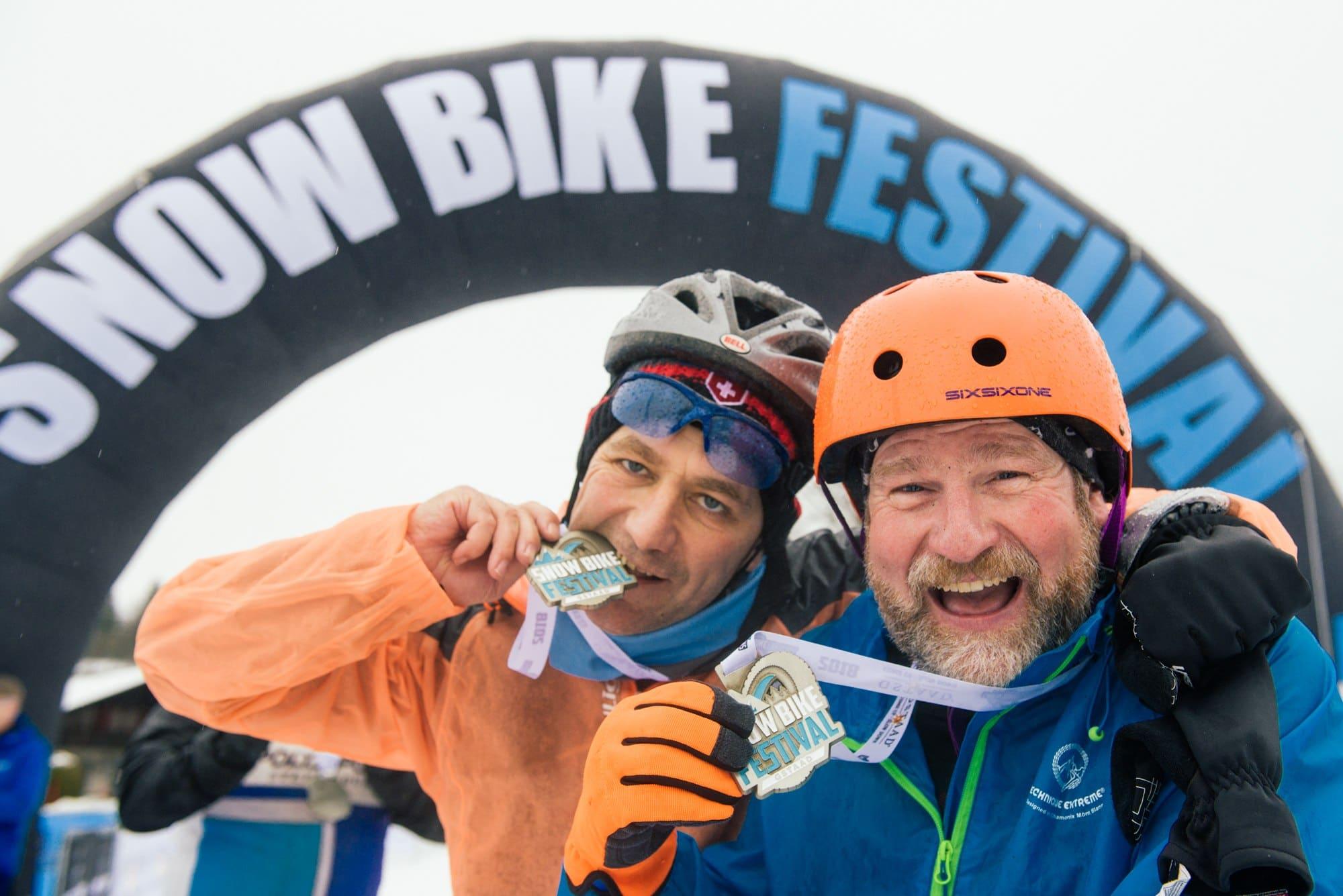 Snow Bike Festival the finish