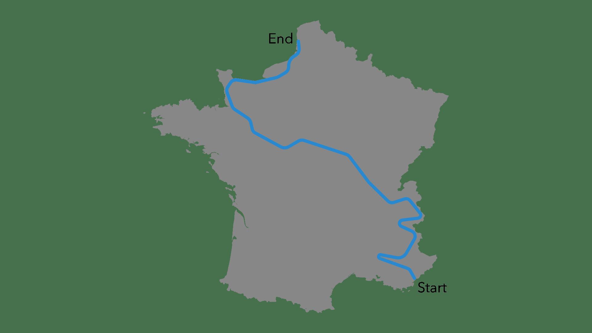 Race Across France Road Map