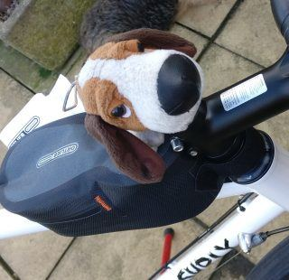 Ortlieb Cockpit Pack and mascot