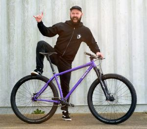 Duncan and his pride and joy: Surly Karate Monkey SS