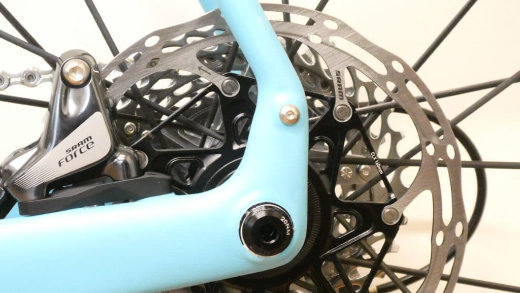 Orbea Terra carbon rear brake mount