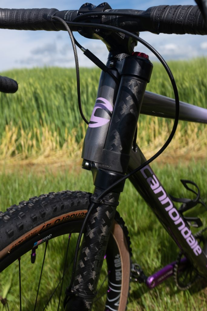 Grinduro Cannondale Slate head tube view
