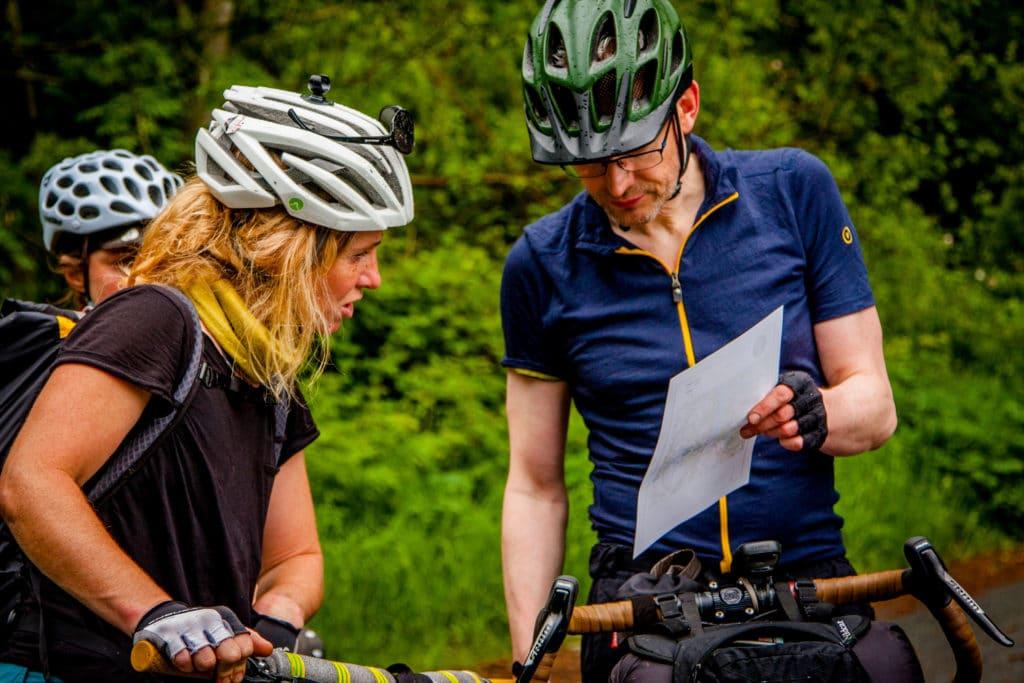 Map reading bikepacking