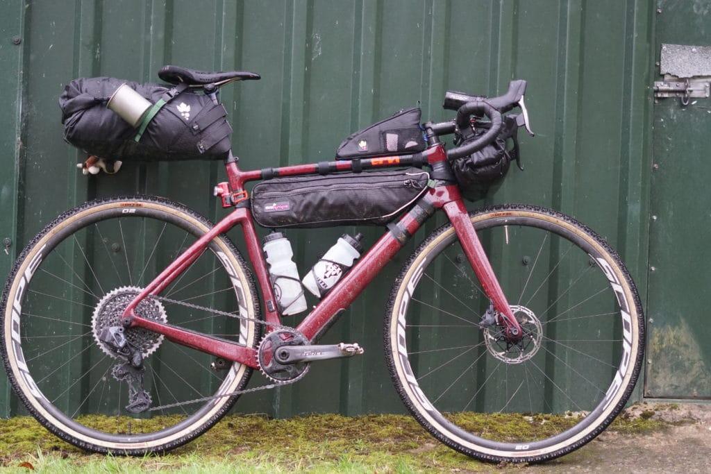 Cervelo Aspero bikepacked