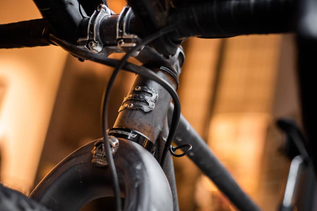 Belle Cycles ATER headtube badge