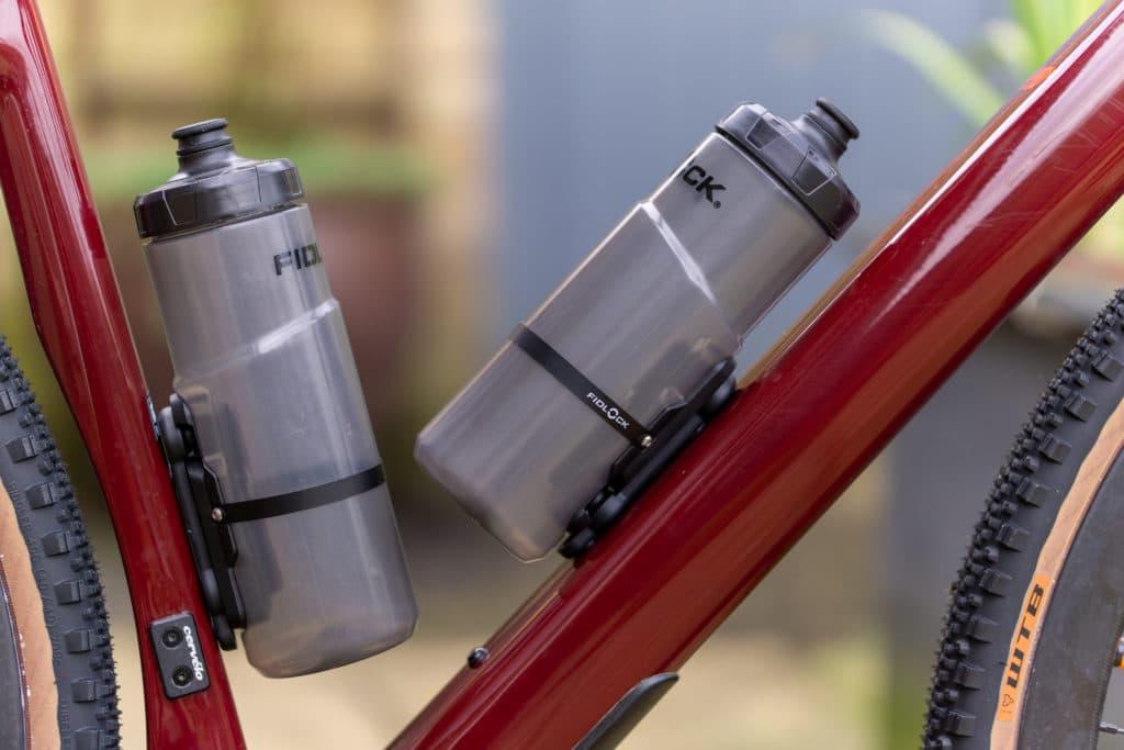 Fidlock Twist bottles fixed to bike
