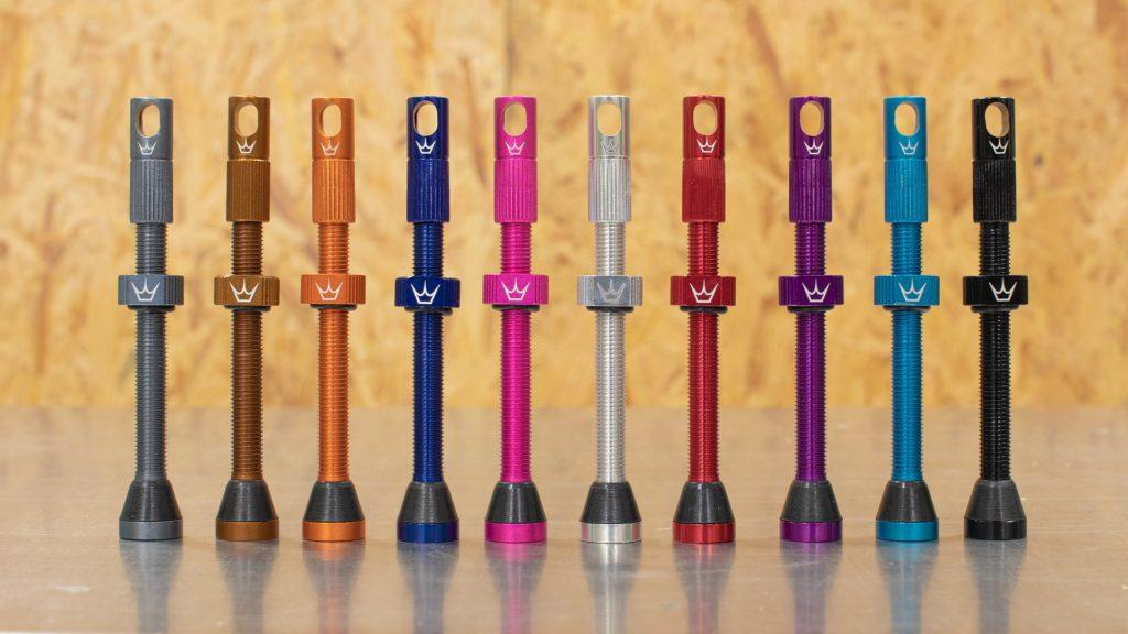 Full range of Peaty's Tubeless Valve colours