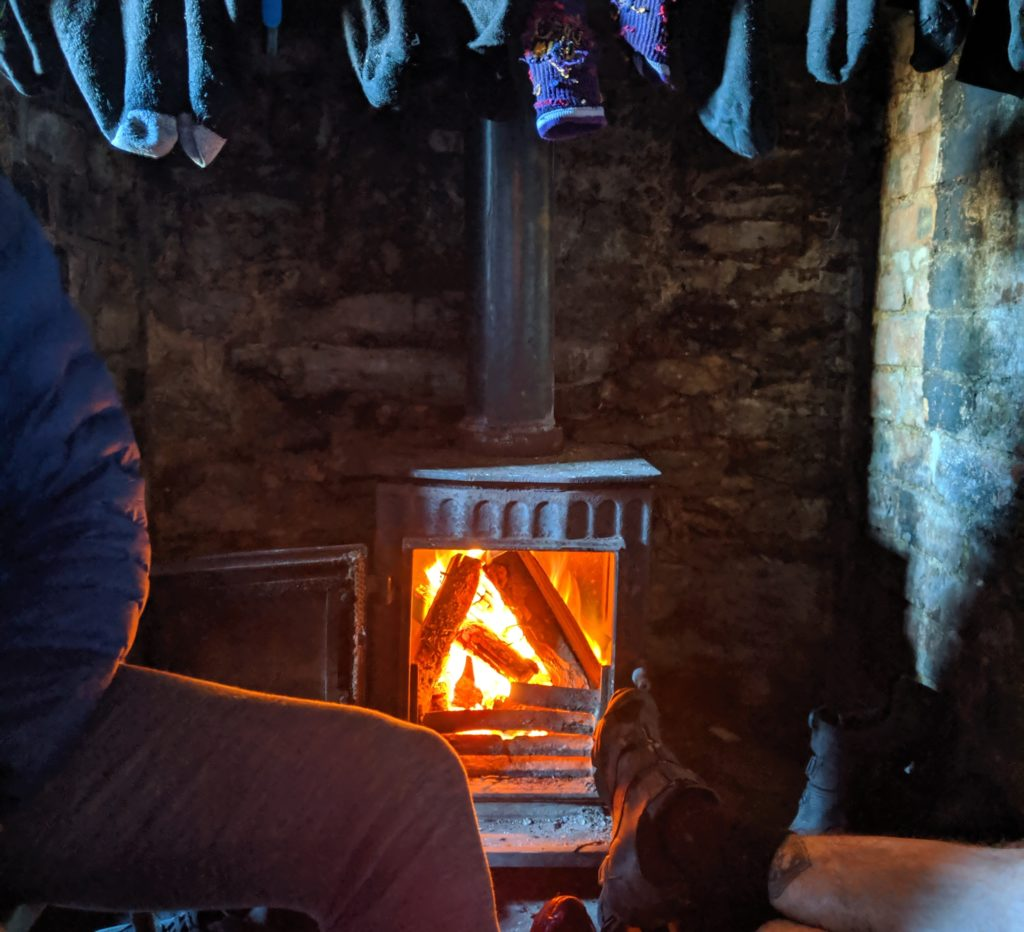 Warmth for the weary traveller. And an excellent sock drier. Photo Credit: Katherine Moore