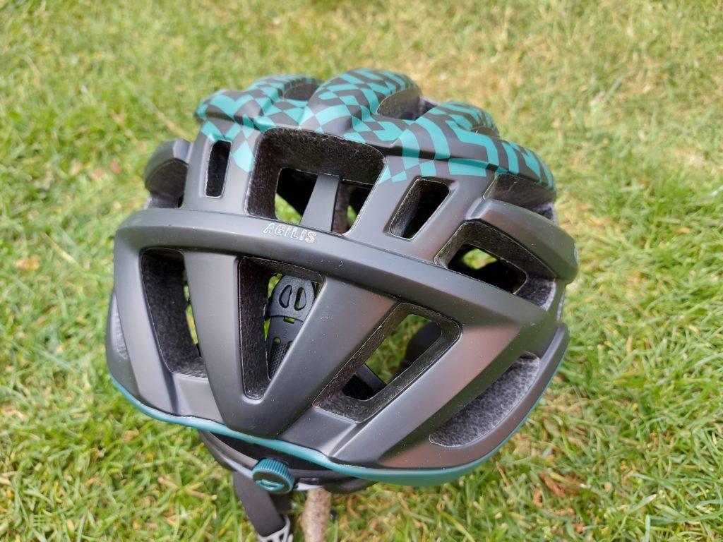 Rear view of the helmet