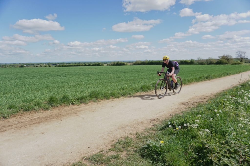 Riding Diverge on the gravel