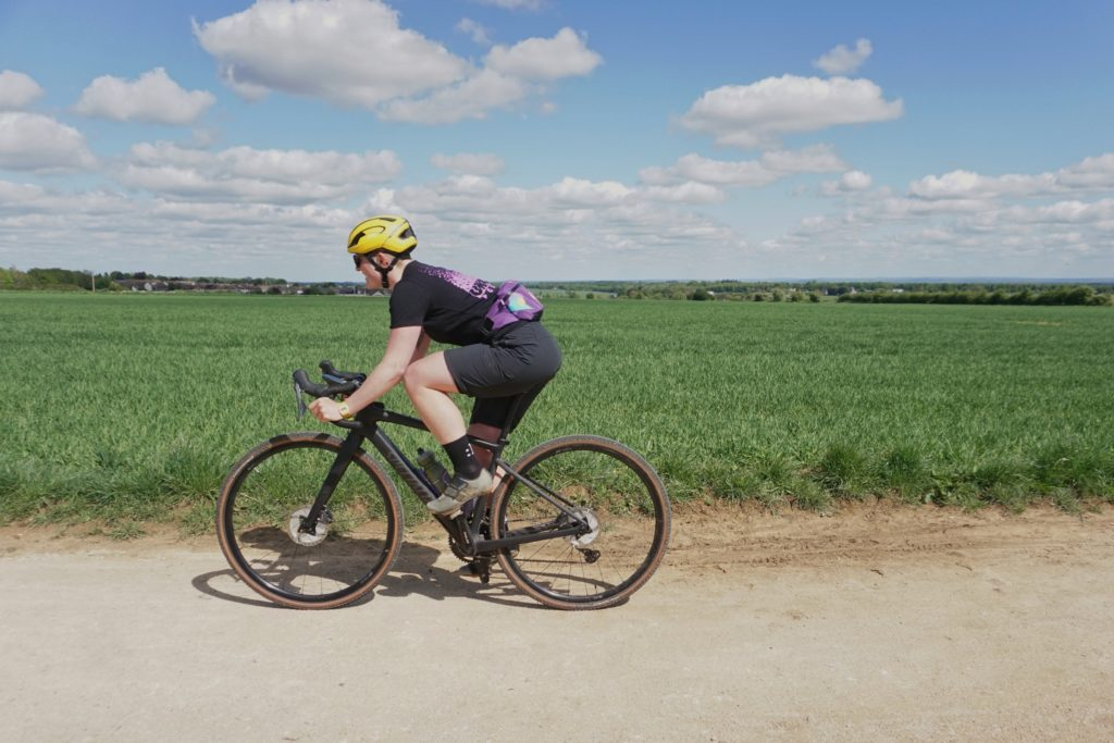 Riding a Specialized gravel bike