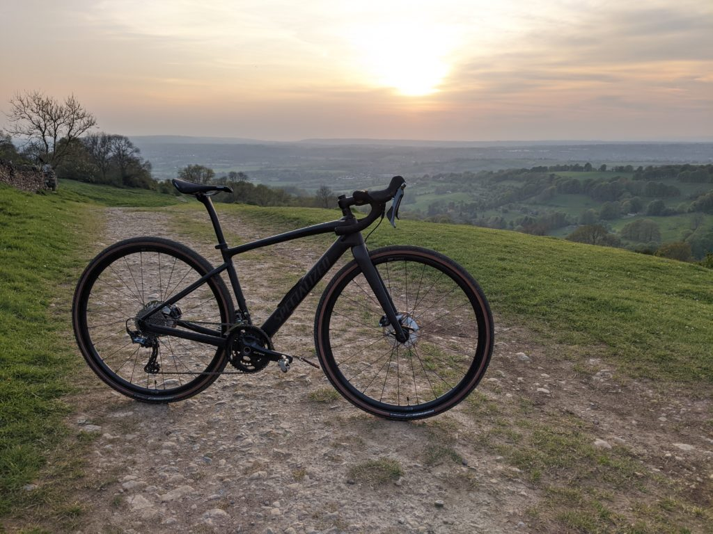 Specialized Diverge Carbon Comp at sunset