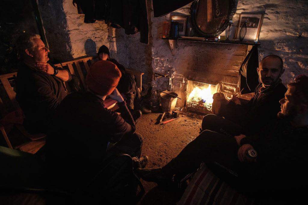 Mark Cottage bothy fireplace