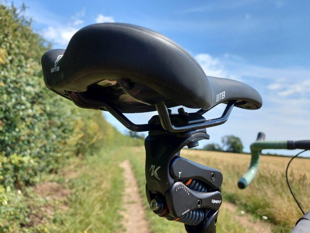 Cirrus Cycles Kinekt seatpost showing the preload adjustment