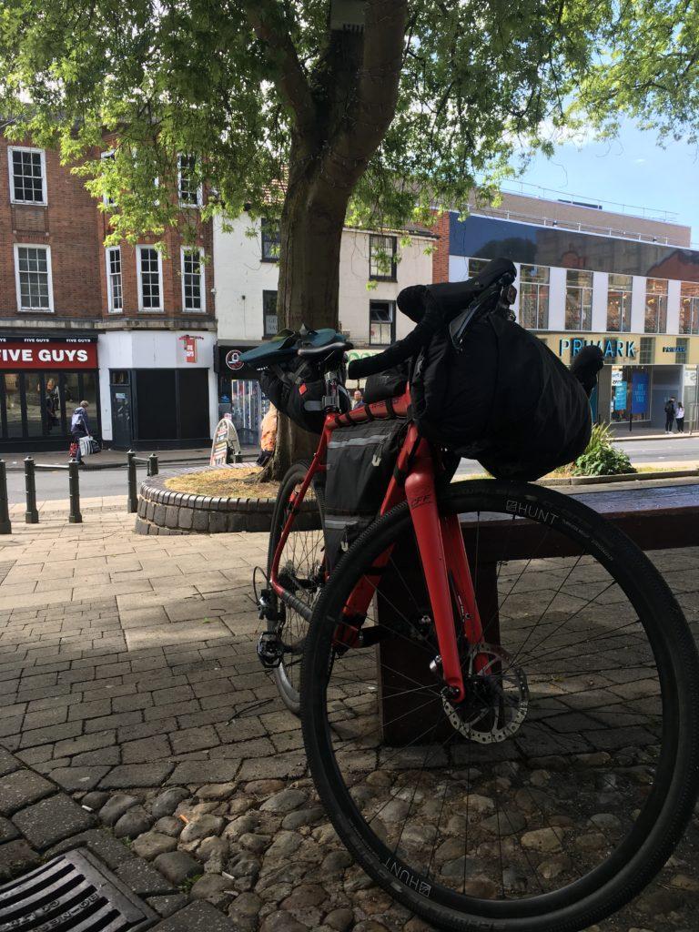 Bike parked in Norwich