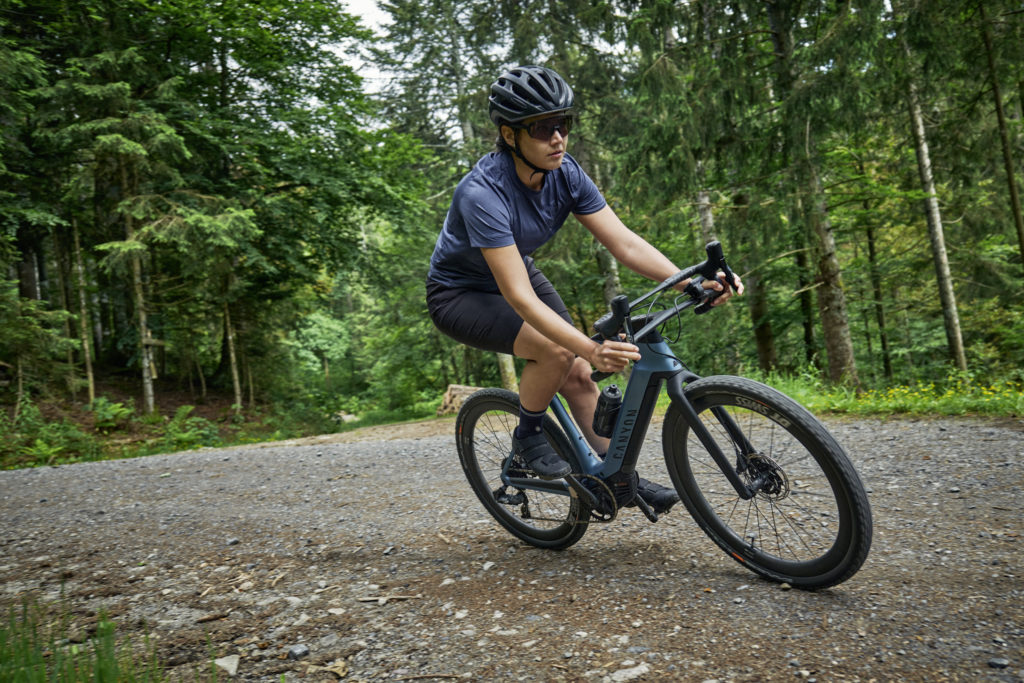 Canyon Grail:ON eGravel on the trail