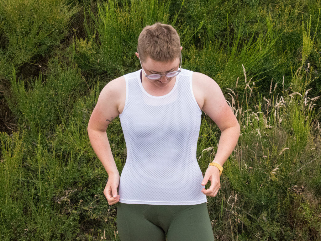 Katherine wearing the TRAIL Baselayer