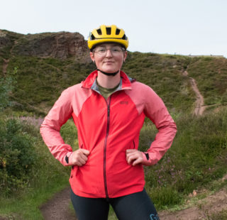 Katherine in the Gore Infinium Hybrid Jacket