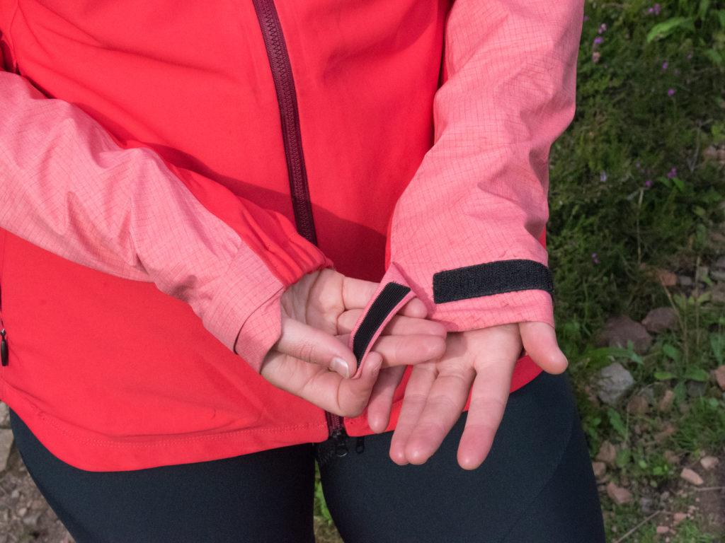 Elasticated cuffs on Gore's Infinium Hybrid Jacket