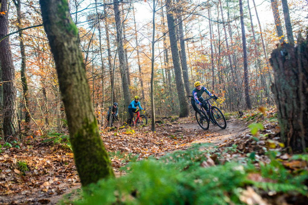 Tearing up the singletrack