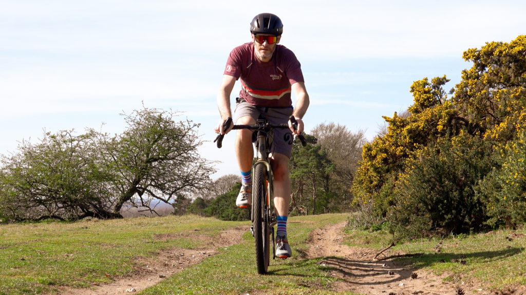Riding in the Stolen Goat Gravel Jersey