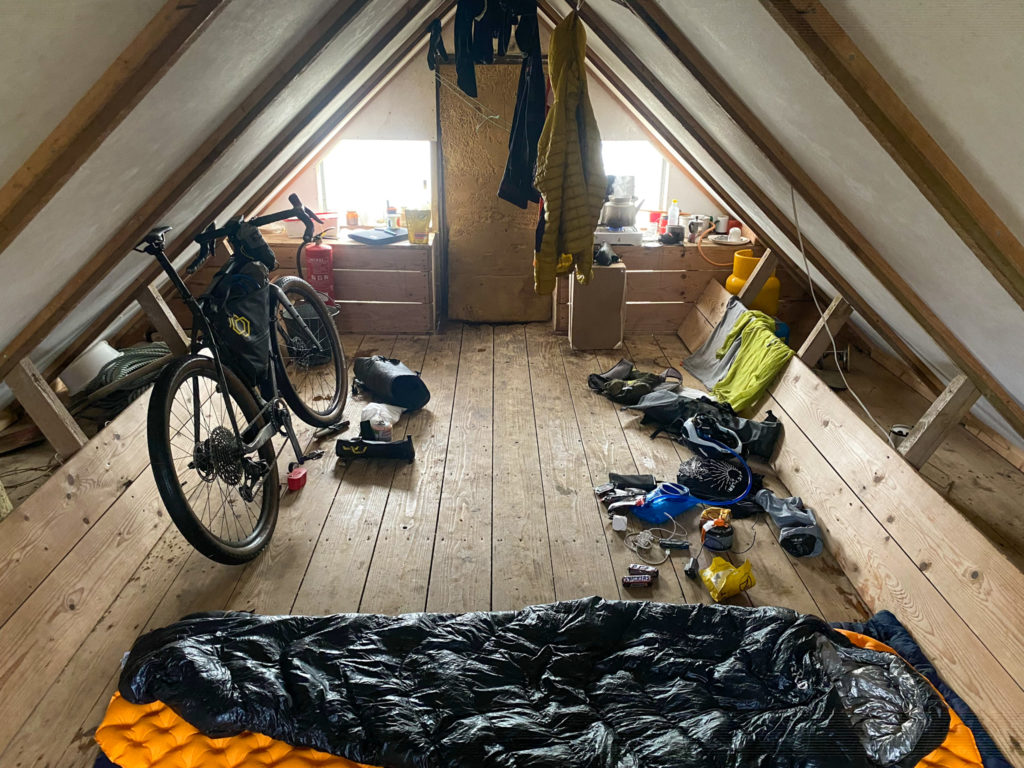 Inside an Icelandic hut