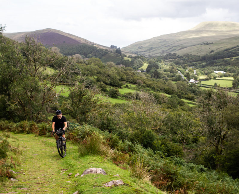 Bikepacking route UK wales