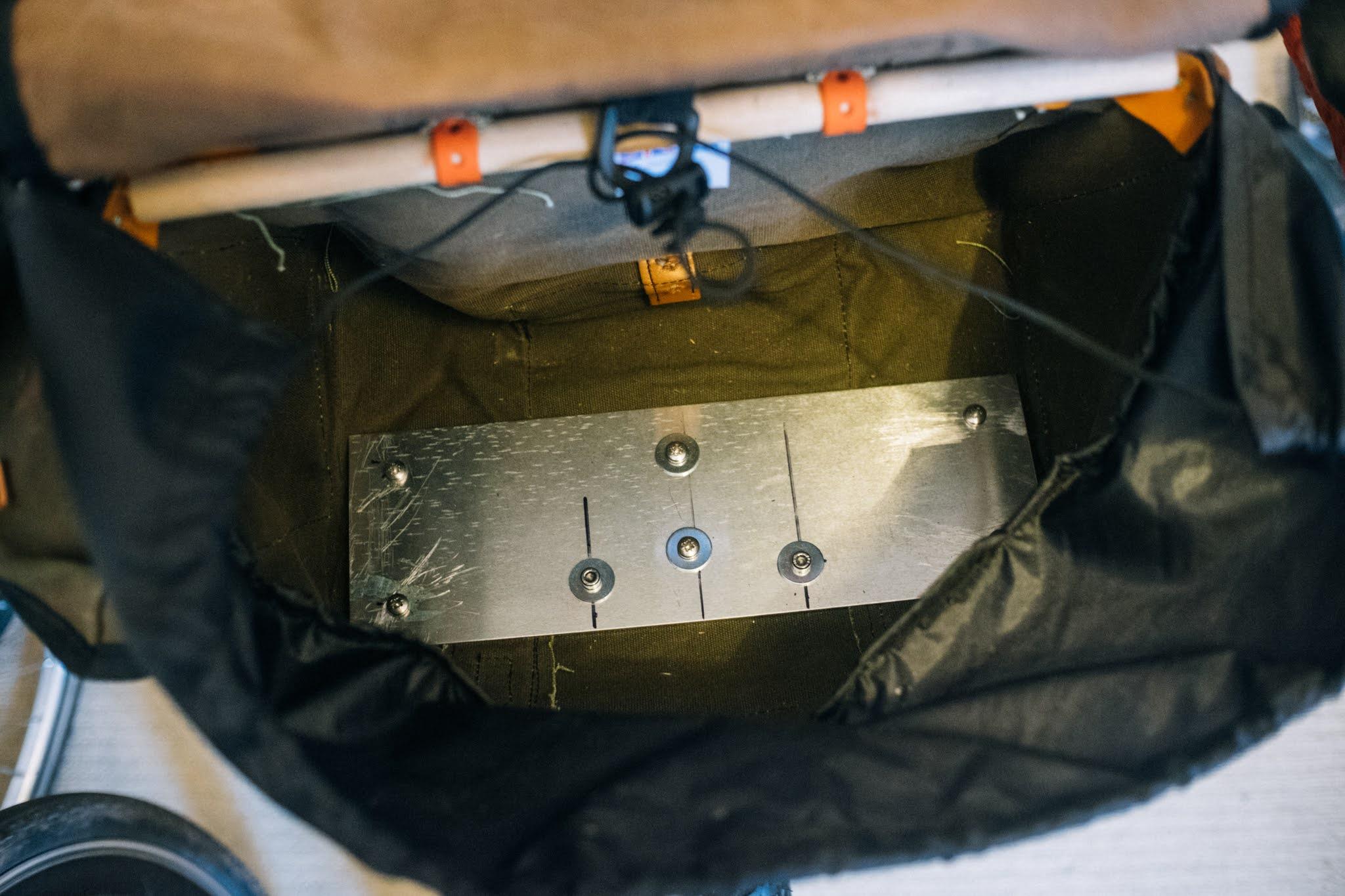 DIY front bag support