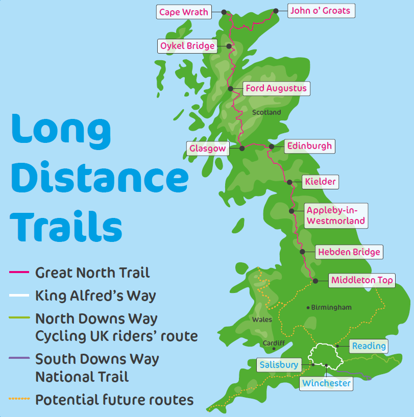 Cycling UK Long Distance Trails