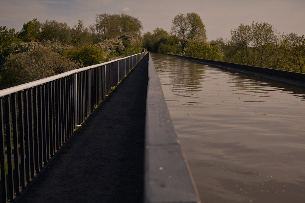 The grand union canal that passes east of birmingham is an excellent route though warwickshire