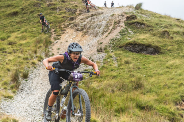 Taylor Doyle descending at Grinduro 2021 in Wales