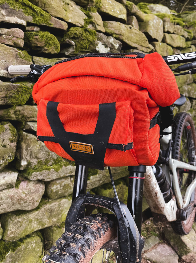 Restraps new Bar Pack attached to a full suspension mountain bike