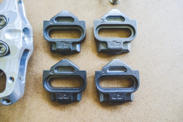 The proprietary cleat system from Hope and their new Union line of Pedals